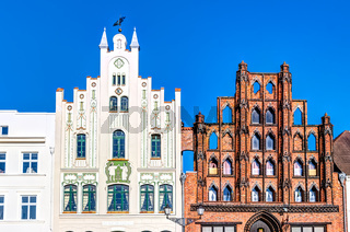 Historische Architektur in der Altstadt von Wismar - Marktplatz