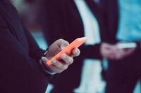 Smartphone in man's hands