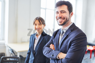 Mann als erfolgreicher Unternehmer