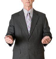 Senior caucasian businessman isolated