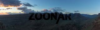 Landschaft Panorama mit Sonnenuntergang