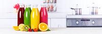 Saft Smoothie Smoothies Flasche Orangensaft Fruchtsaft Frucht Banner Früchte