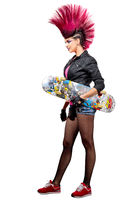 Young punk girl isolated
