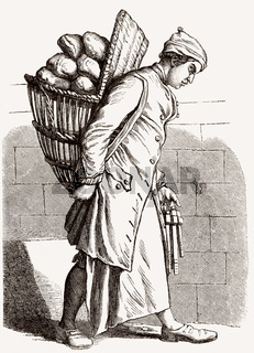 A baker in the 18th century