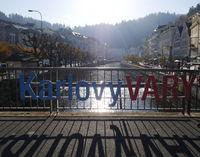 Berühmter historischer tschechischer Kurort Karlsbad, Karlovy Vary