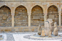 Archaeological exposition in old city, Baku, Azerbaijan
