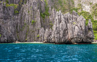 Scenic tropical island landscape, El Nido, Palawan, Philippines