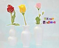 Glueckwunschkarte Illustration mit bunten Rosen