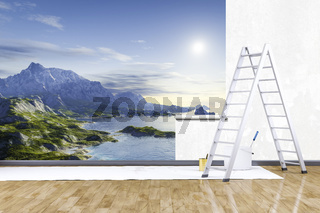 photo mural nature scenery