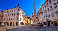 City of Ljubljana old cobbled center street