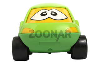 Toy car isolated on white with clipping path