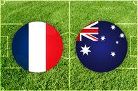 France vs Australia football match