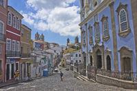 Salvador de Bahia, Pelourinho street view, Brazil