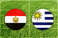 Egypt vs Uruguay football match