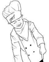 Little Chef Pointing Down