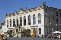 DRESDEN, GERMANY - SEPTEMBER 17:Dresden Transport Museum on the Neumarkt Square
