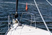 Bug einer Segelyacht