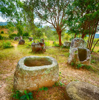 The Plain of jars. Laos