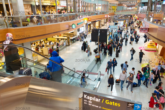 Interior hall Istanbul airport. Turkey