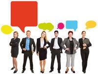 Kommunikation Konzept mit Business Team