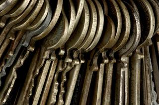 Macro shot of keys
