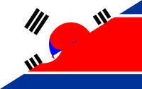 south north korea flag
