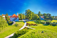 Old town of Varazdin park and landmarks view