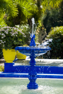 Blue Painted Water Fountain