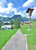 Urlaubsort Baad im Kleinwalsertal,Vorarlberg,Oesterreich