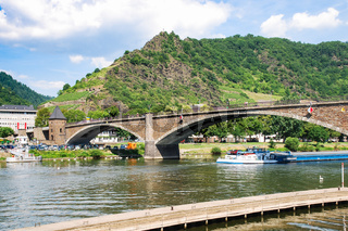 bridge over Moselle river in Cochem