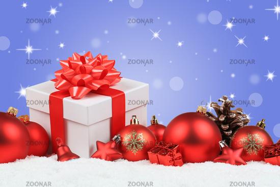 Weihnachten Geschenke Weihnachtsgeschenke Dekoration Hintergrund Winter Schnee Stern Textfreiraum
