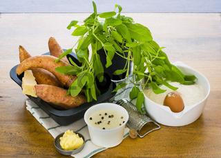 Zutaten für Süßkartoffel Gnocchi