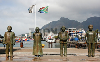Sculptures at the waterfront, Cape Town