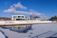 Senftenberg Hafen Winter - Senftenberg harbour in Winter