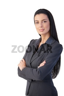 Pretty businesswoman posing