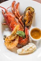 Grilled Halved Lobster Tails
