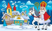 Sinterklaas on horse theme image 8