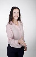 Handschlag einer Geschäftsfrau