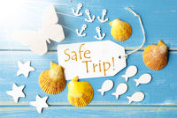 Sunny Summer Greeting Card With Text Safe Trip