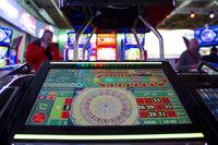 Digital modern roulette table monitor