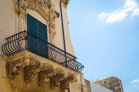 NOTO, ITALY - Detail of Baroque Balcony, 1750