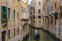 Venice Gondola boat in Canal, Venice (Venezia), Italy