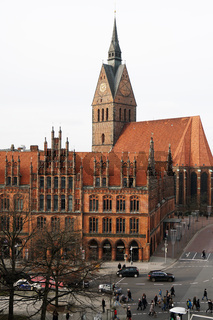 Altes Rathaus and Marktkirche in Hannover Germany