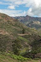 Bach im Gebirge von Gran Canaria