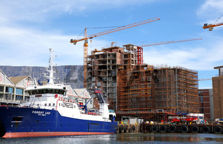 Hafengebiet, Kapstadt, Table Mountain, view at port area, Cape Town, South Africa