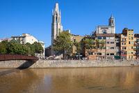 City Skyline of Girona in Spain