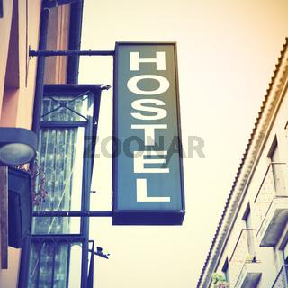 Signboard od hostel