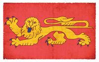 Grunge flag of Aquitaine (France)