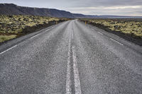 Icelandic landscape with country roadway
