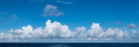 High definition panoramic cloudscape over ocean